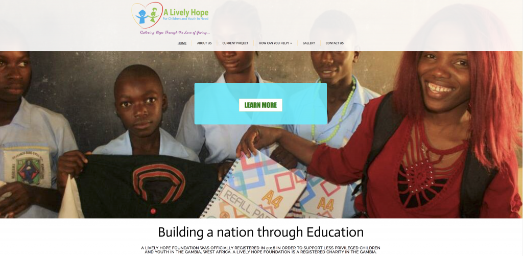 A lively hope for children and youth foundation