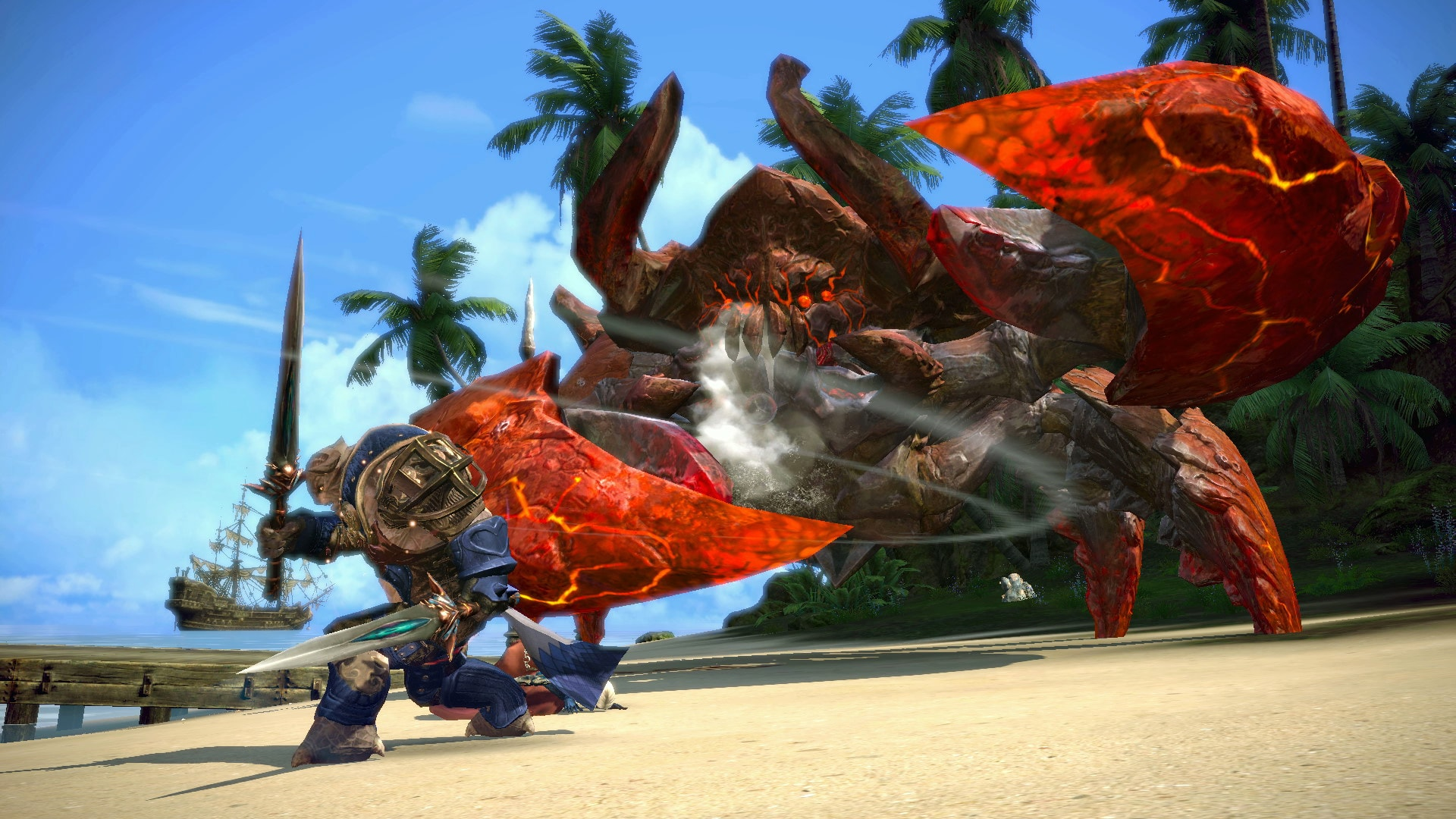 Tera. Giant crab fight