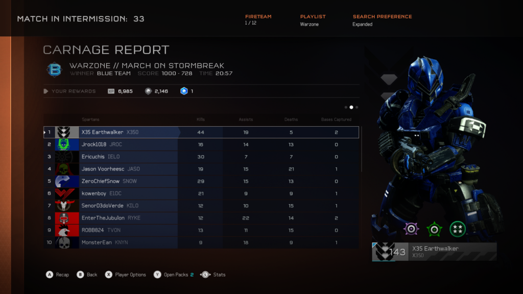 Halo 5 Warzone domination
