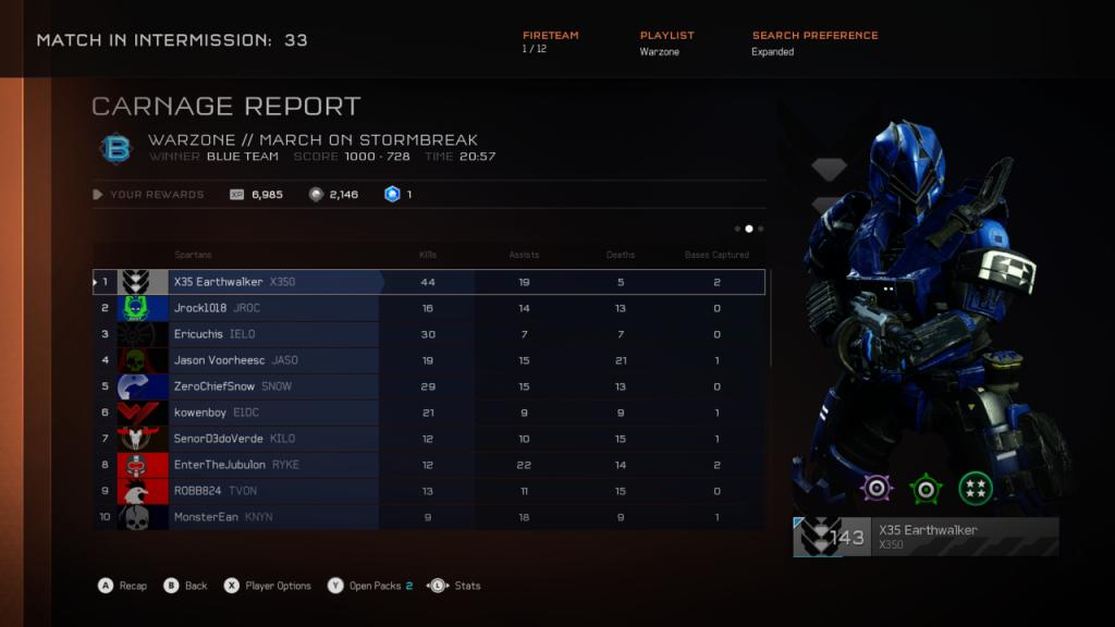 Halo 5 Warzone domination