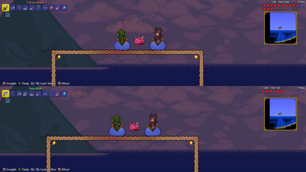 X35 and L45 Terraria slime mounts