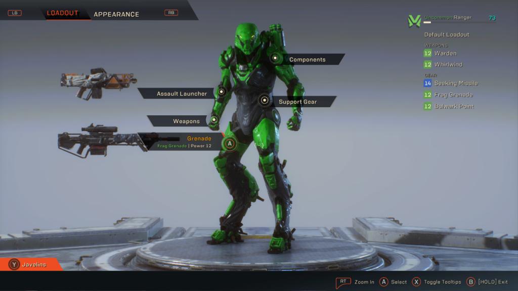Anthem Green Javelin