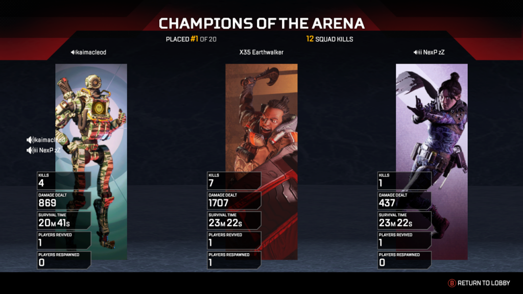 Apex Legends Champions of arena