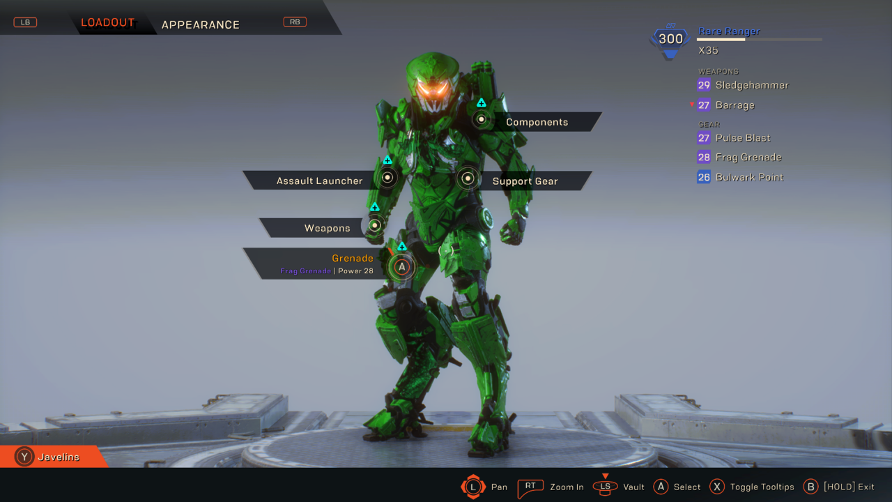 Ranger Javelin in Anthem