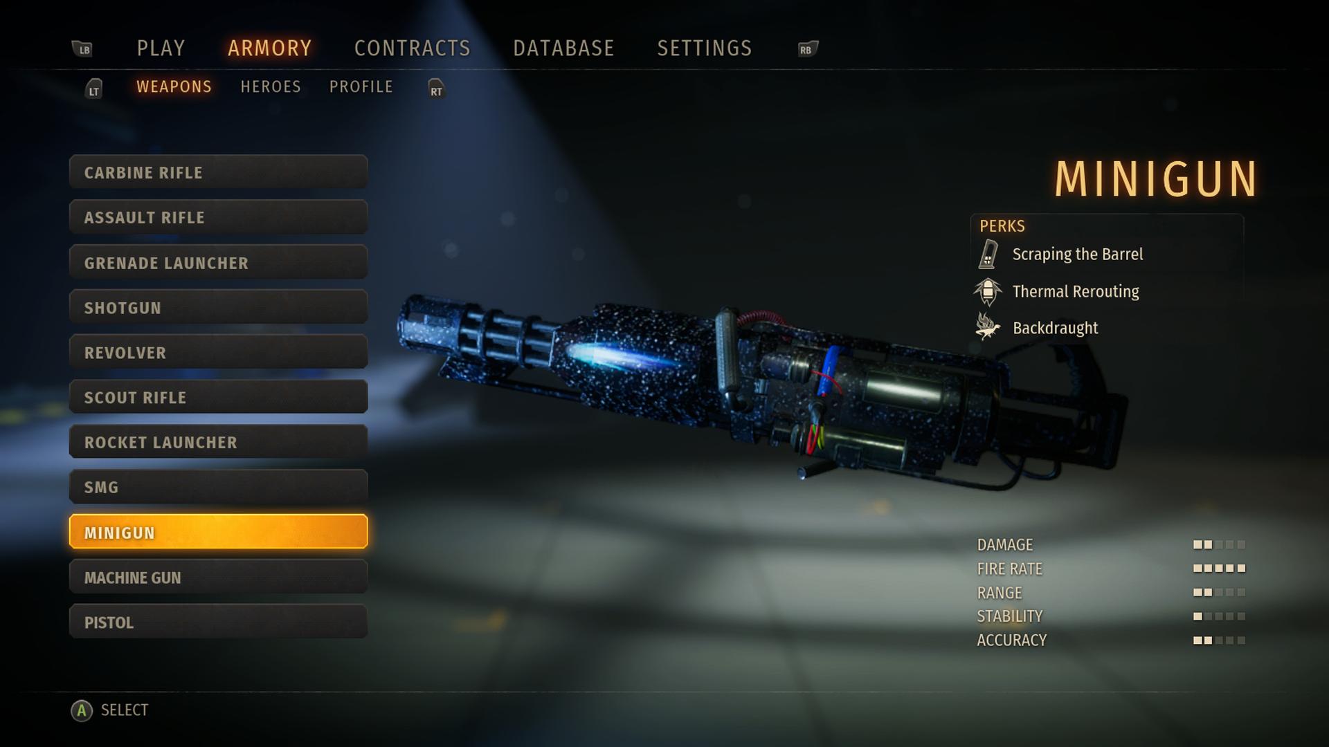 X35 Earthwalker Second Extinction Minigun